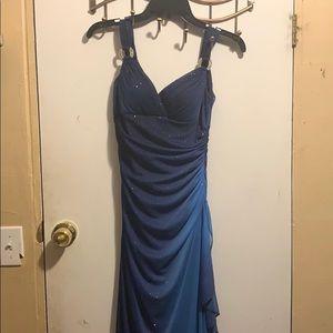 Royal Blue Ombré Prom Dress